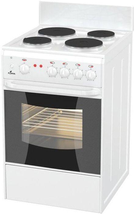 Плита Flama AE 1402 W, электрическая, белый