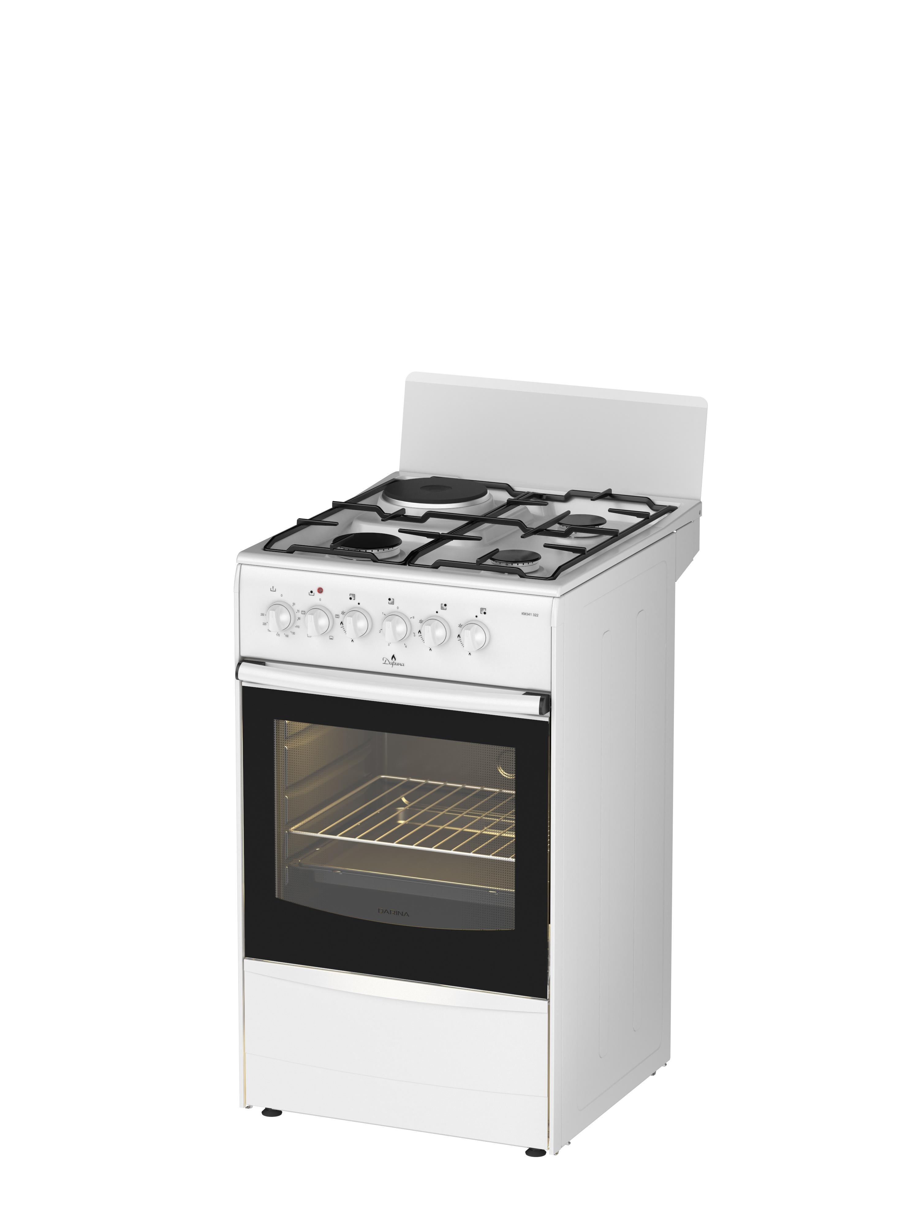 Darina 1A KM341 322 W, White плита комбинированная комбинированная плита deluxe 506031 01 гэ крышка