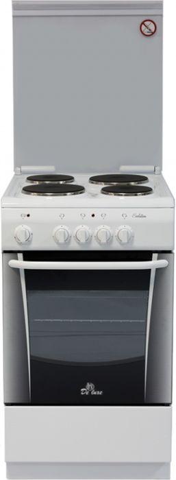 De Luxe 506004.04э, White плита электрическая