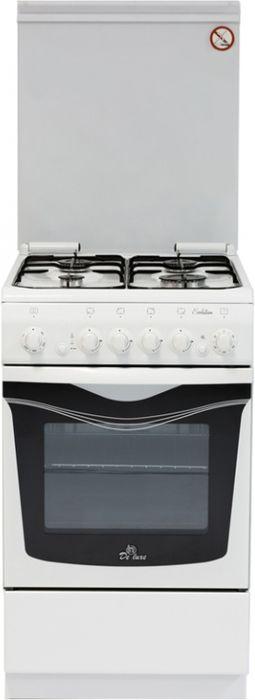 De Luxe 506040.03г чр, White плита газовая цена и фото