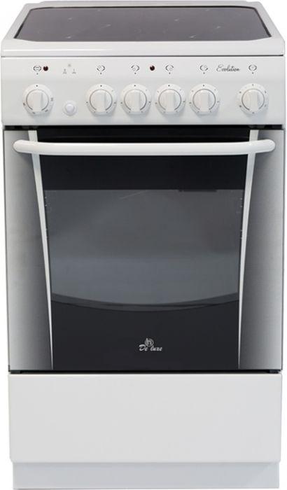 De Luxe 506004.03эс, White плита электрическая
