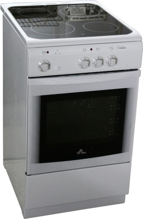 Плита De Luxe 506003.04эс, White, электрическая