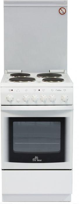 Плита De Luxe 5004.10э КР, White, электрическая