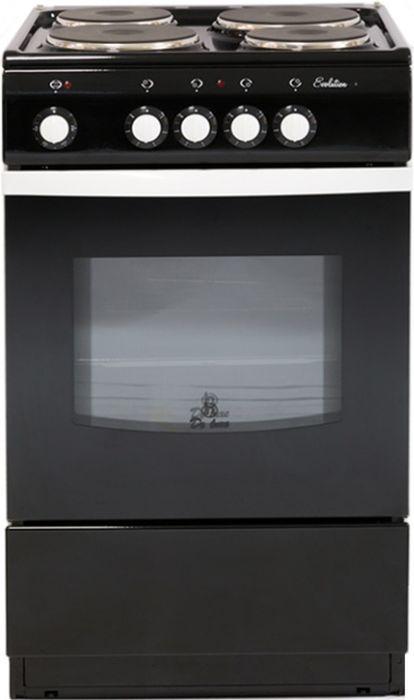 лучшая цена Плита De Luxe 5004.12э, Black, электрическая