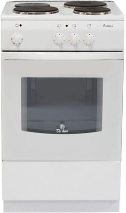 De Luxe 5003.17э кр, White плита электрическая