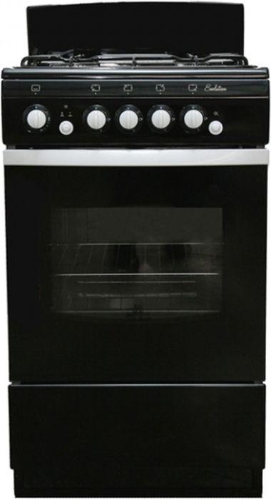 Плита De Luxe 5040.36г, Black, газовая
