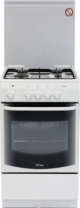 Плита De Luxe 5040.37г, White, газовая