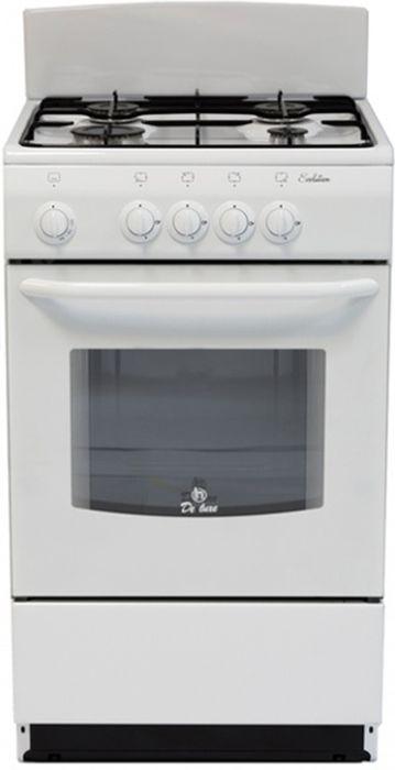 De Luxe 5040.38г, White плита газовая