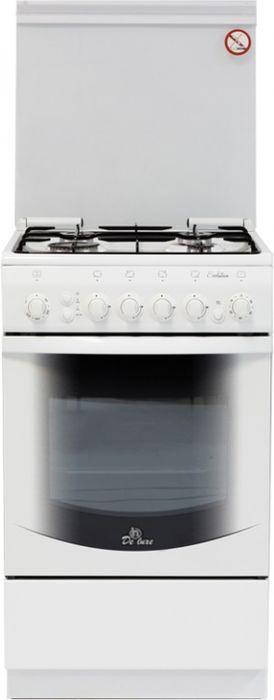 Плита De Luxe 5040.41г ЧР, White, газовая