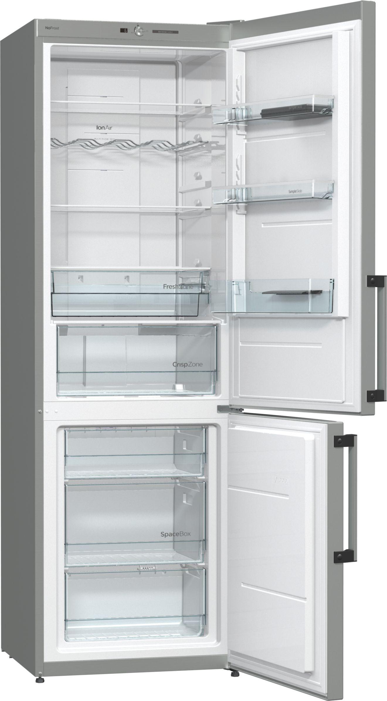 Холодильник Gorenje NRK6191GHX, нержавеющая сталь