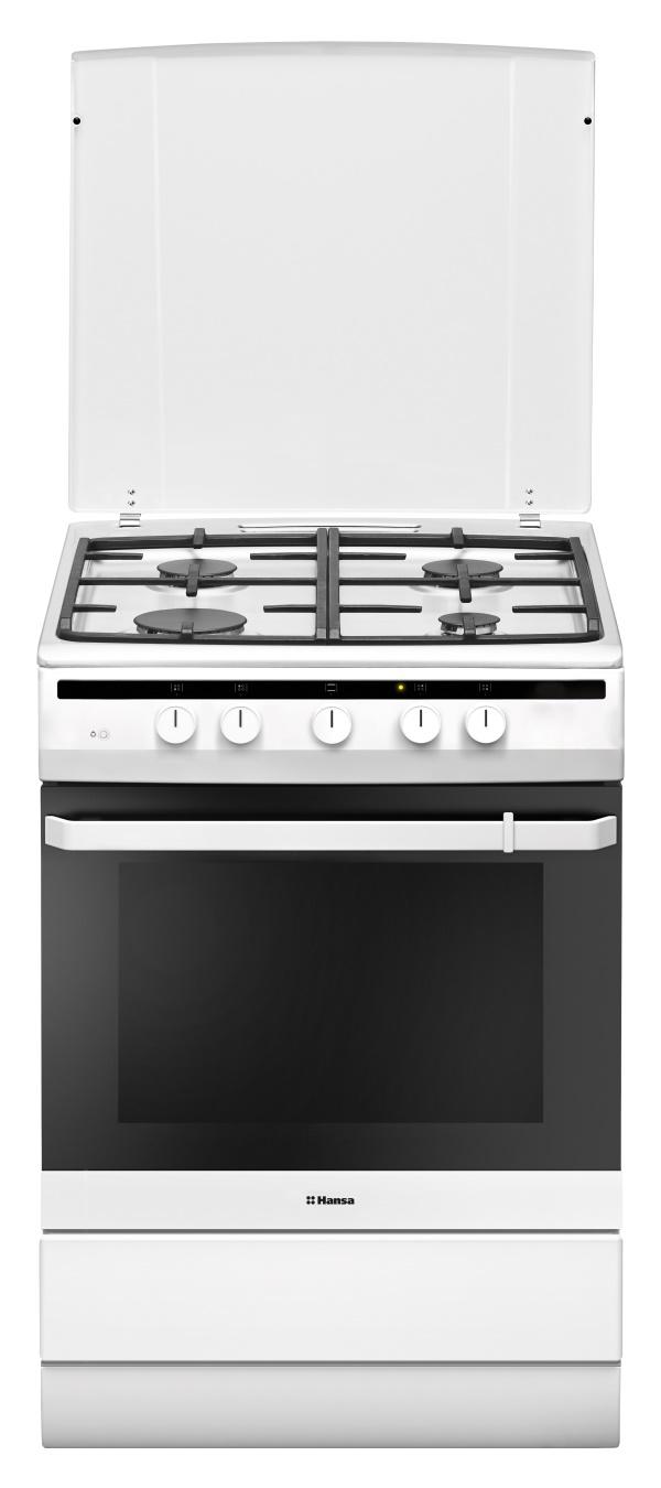 лучшая цена Hansa FCGW64022, White плита газовая