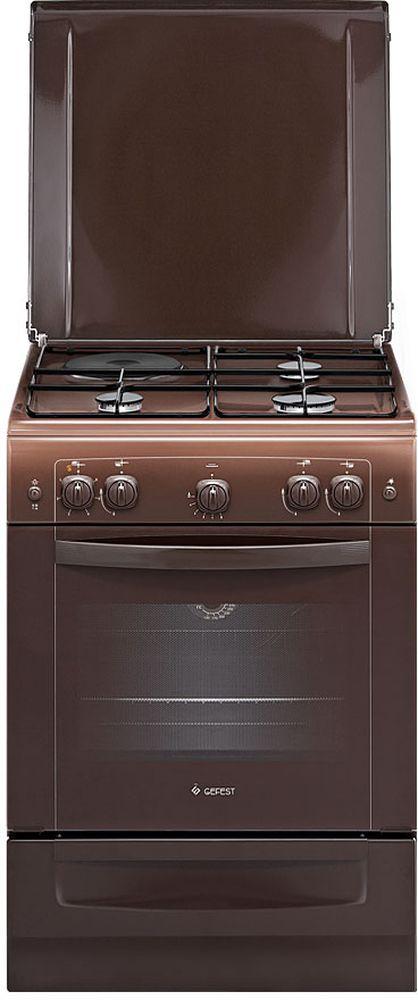 Плита Gefest ПГЭ 6110-01 0001, Brown, комбинированная