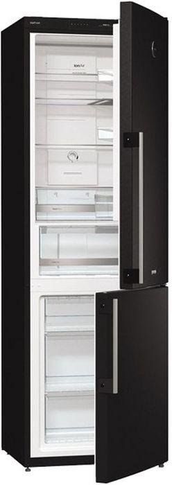 Холодильник Gorenje NRK61JSY2B, двухкамерный, черный
