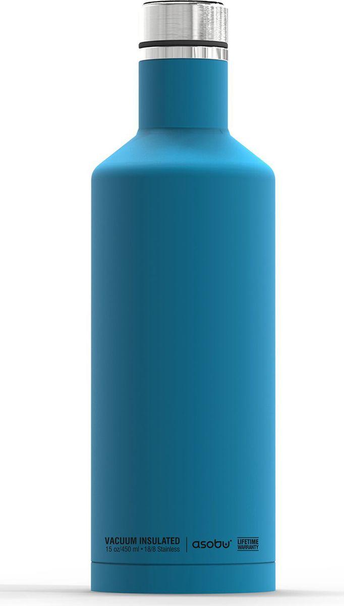Термобутылка Asobu Times Square Travel Bottle, цвет: голубой, 450 мл