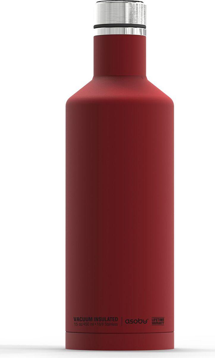 Термобутылка Asobu Times Square Travel Bottle, цвет: красный, 450 мл термобутылка 0 45 л asobu times square travel bottle стальная sbv15 silver