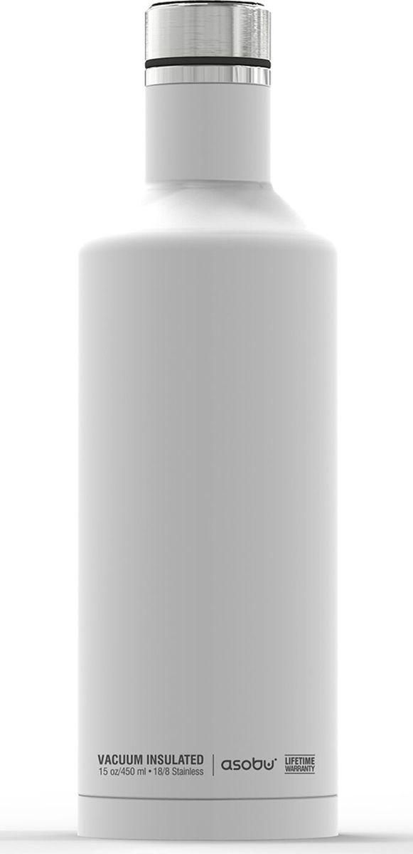 Термобутылка Asobu Times Square Travel Bottle, цвет: белый, 450 мл