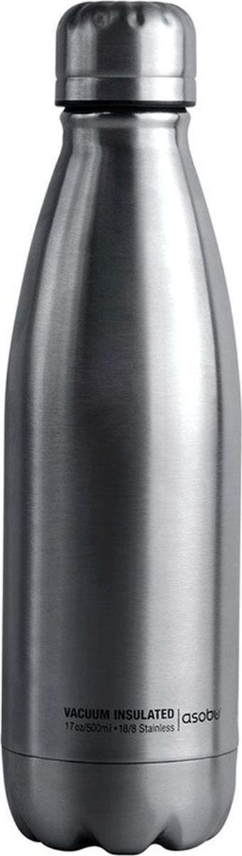 Термобутылка Asobu Central Park Travel Bottle, цвет: стальной, 0,51 л