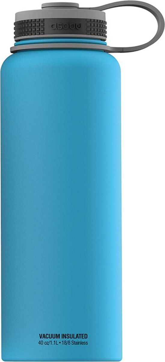 Термобутылка Asobu The Mighty Flask, цвет: голубой, 1,1 л термобутылка 1 1 л asobu the mighty flask белая tmf1 white