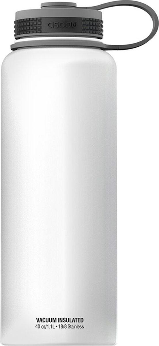 Термобутылка Asobu The Mighty Flask, цвет: белый, 1,1 л термобутылка asobu the mighty flask цвет красный 1 1 л