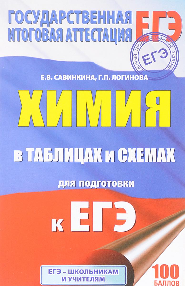 Е. В. Савинкина, Г. П. Логинова ЕГЭ. Химия в таблицах и схемах. 10-11 классы