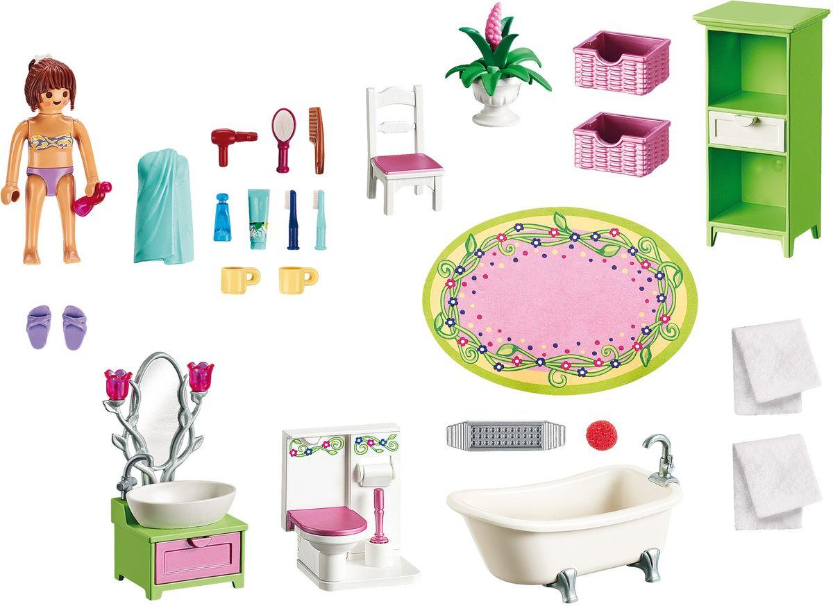 Фото - Playmobil Игровой набор Кукольный дом Романтическая ванная комната playmobil кукольный дом детская комната с люлькой 5304