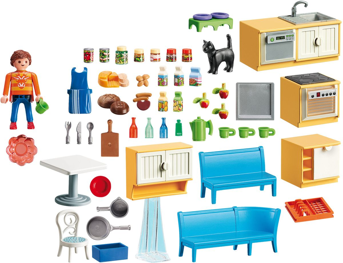 Playmobil Игровой набор Кукольный дом Встроенная кухня с зоной отдыха цена и фото