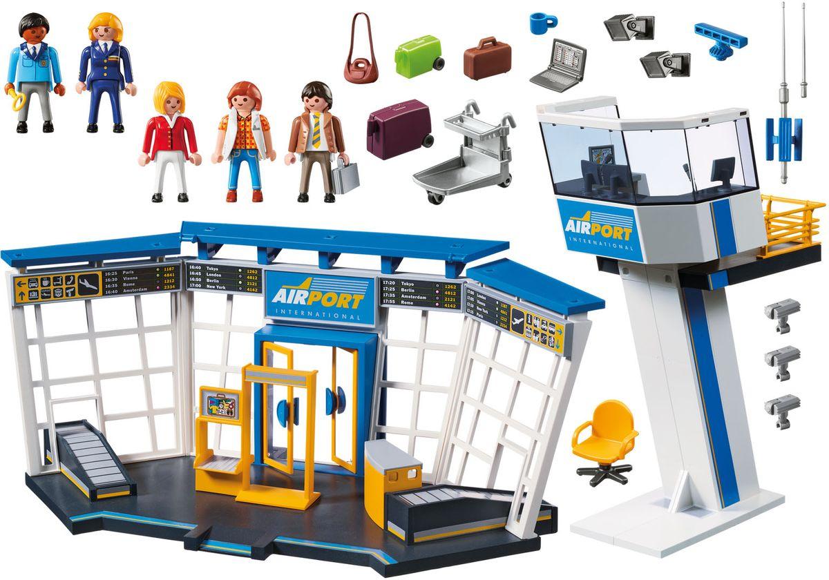 Playmobil Игровой набор Аэропорт с диспетчерской вышкой playmobil игровой набор аквариум рыба меч с детенышем
