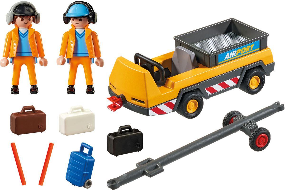 Playmobil Игровой набор Буксир самолета с наземной командой