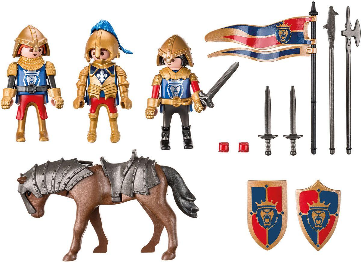 """Набор игровой Playmobil """"Рыцари:Королевские рыцари Львы"""", 6006pm, с аксессуарами"""