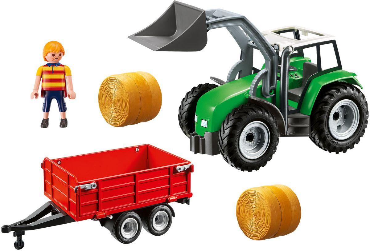 Playmobil Игровой набор Большой трактор с прицепом