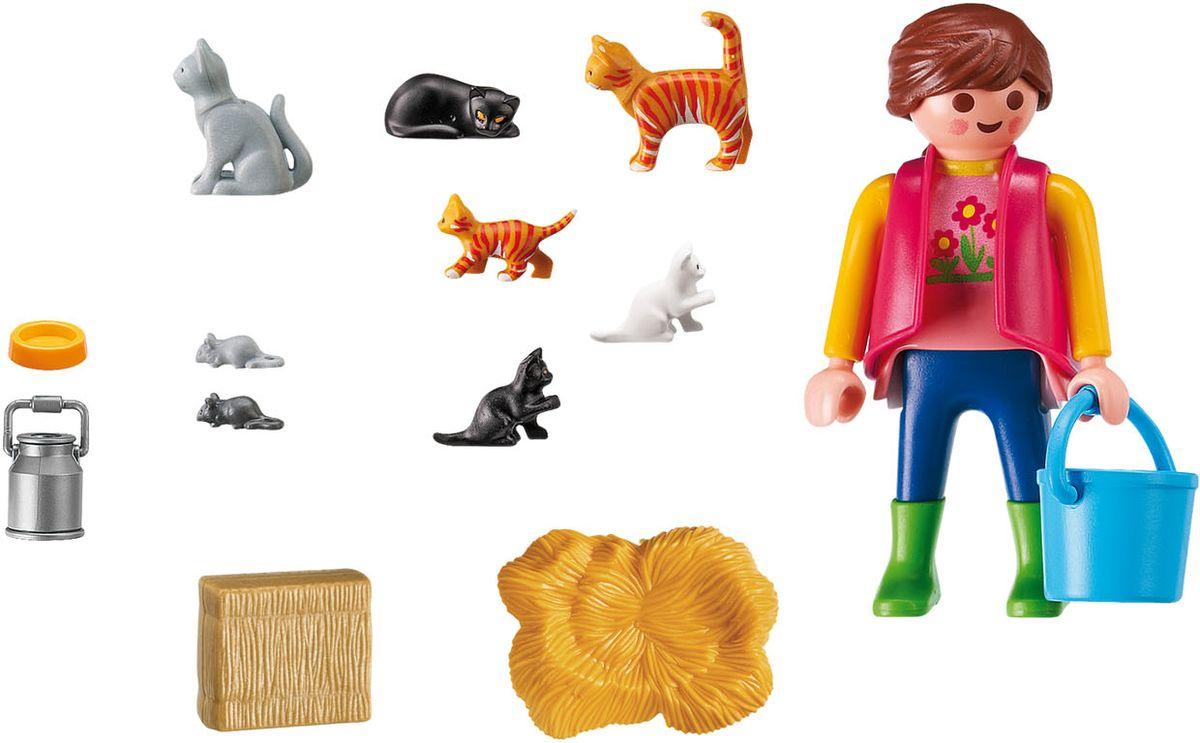 Playmobil Игровой набор Женщина с семейством кошек