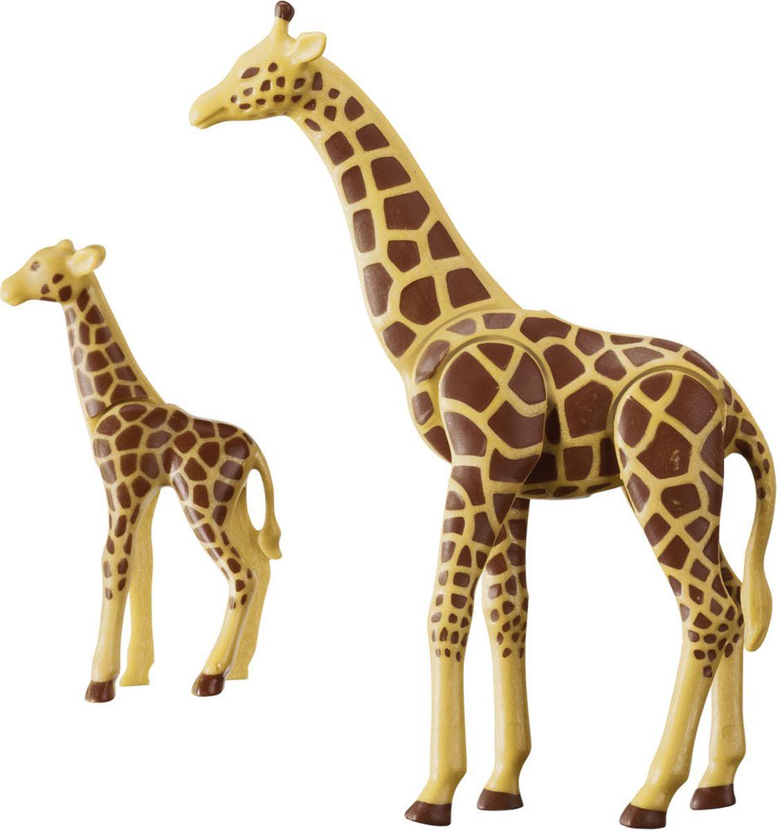 Playmobil Игровой набор Зоопарк Жираф с детенышем