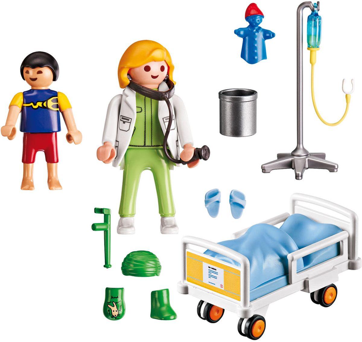 playmobil игровой набор африка буйволы Playmobil Игровой набор Детская клиника Доктор с ребенком