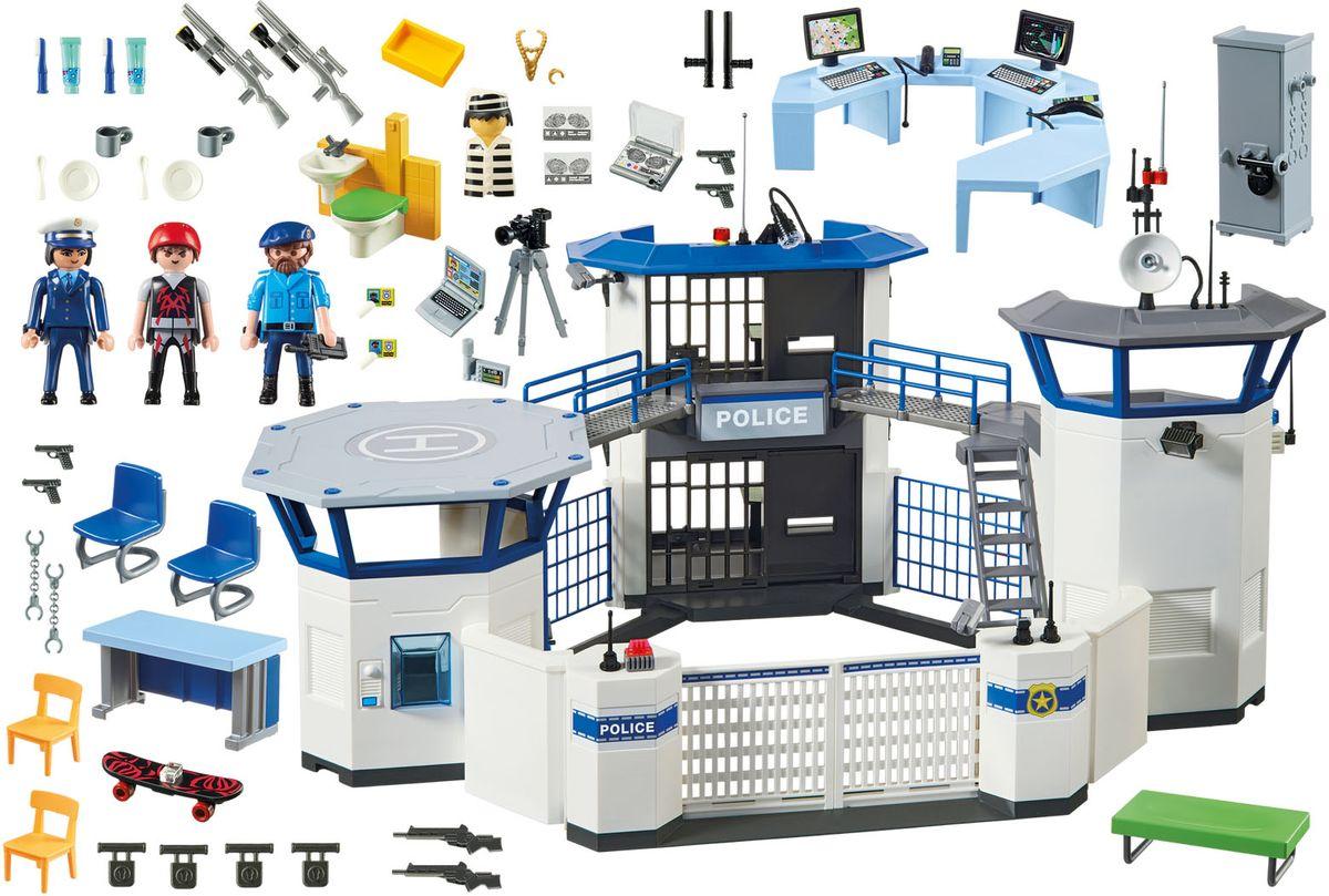 Playmobil Игровой набор Штаб полиции с тюрьмой
