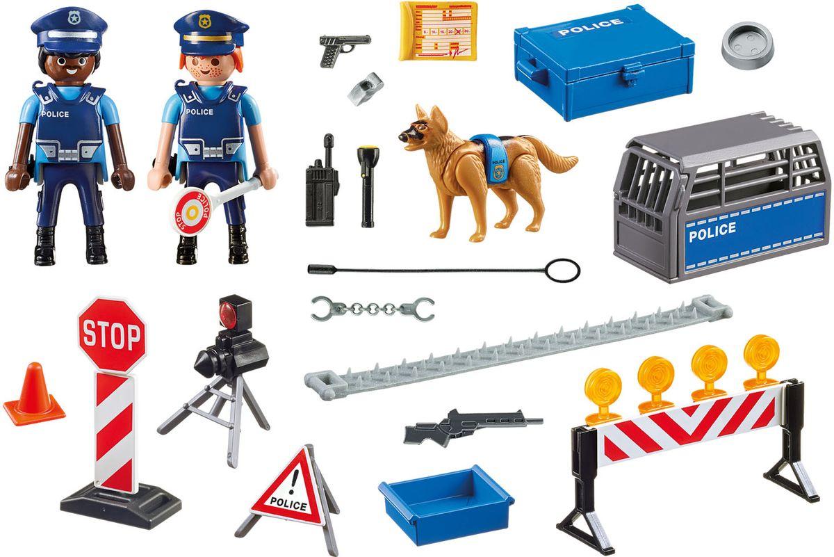 Playmobil Игровой набор Полиция Блокпост полиции