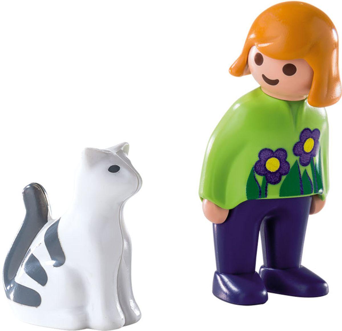 Playmobil Игровой набор Женщина с кошкой playmobil игровой набор детская клиника доктор с ребенком