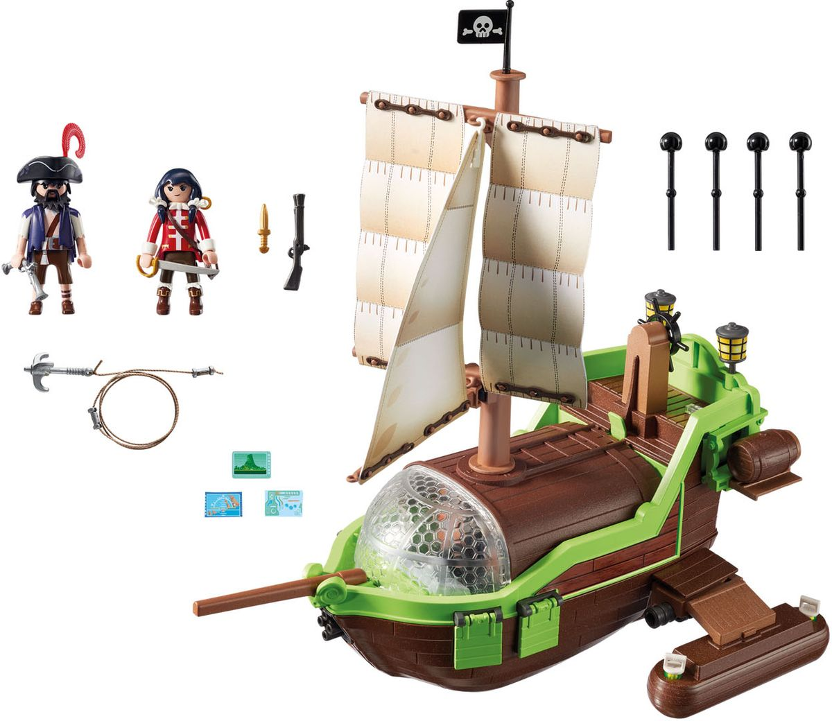Playmobil Игровой набор Пират Хамелион с Руби