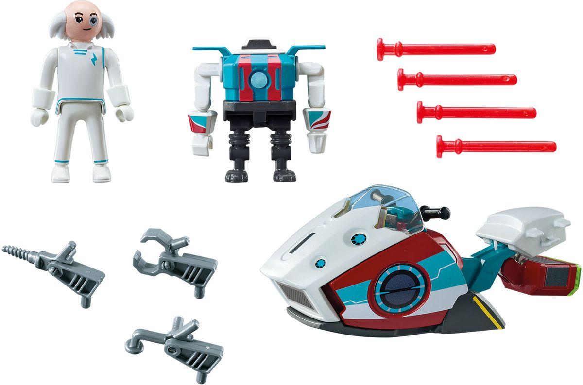 Playmobil Игровой набор Скайджет с доктором Х и Робот