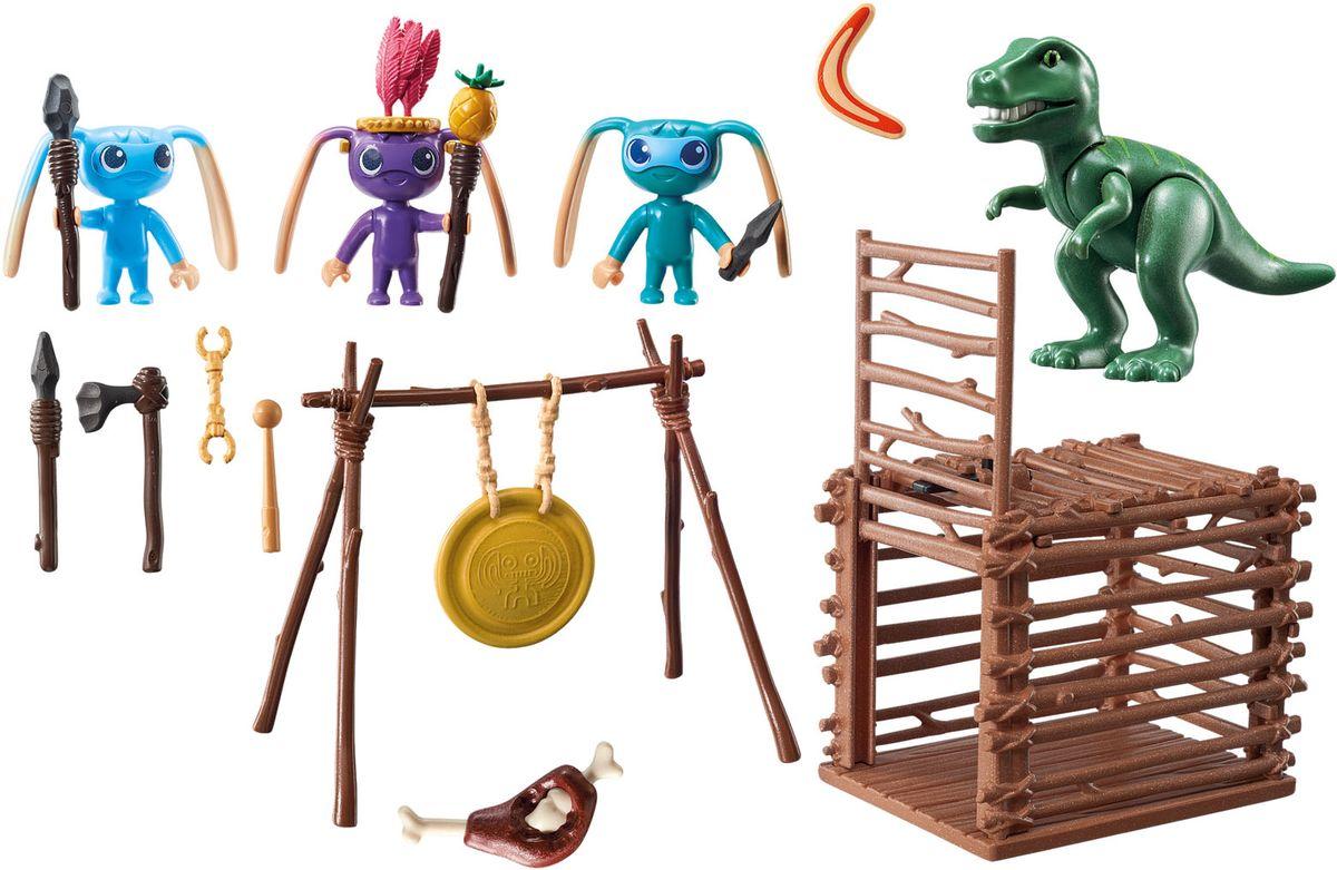 Playmobil Игровой набор Инопланетный воин с Т-рекс ловушкой playmobil супер 4 инопланетный воин с т рекс ловушкой 9006