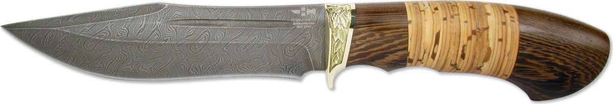 Нож нескладной Ножемир Дежнев, дамасская сталь, с ножнами, общая длина 27,5 см нож из дамасской стали фараон береста литье