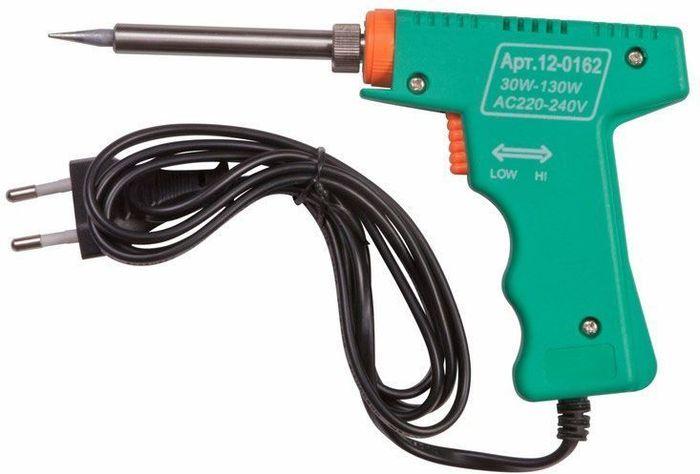 Паяльник импульсный Rexant HS-50 (ZD-80), 220В/30-130Вт набор для пайки паяльник 8вт оловоотсос подставка припой отвертка интрумент для монтажа rexant