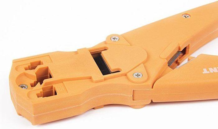Кримпер Rexant, для обжима, пластиковый 8P8C/6P6C/4P4C, HT-468S, TL-468S автотестер универсальный rexant 16 0102