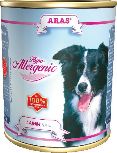 Консервы для собак Aras Hypo-Allergenic, гипоаллергенные, с бараниной и рисом, 820 г101807Консервы Aras Hypo-Allergenic для собак всех пород и возрастов с признаками пищевой непереносимости. Предназначены для профилактики и лечения аллергических проявлений: расстройство пищеварения, ухудшение состояния шерсти и кожи, перхоть и зуд, хроническая диарея и рвота, аллергические реакции. Подходят для кормления пожилых собак. Корм не содержит пшеницу, ячмень, рожь, кукурузу и овес, способные вызывать аллергию у собак из-за наличия в них глютена. Изготовлен без сои и кукурузы, не содержит никаких синтетических добавок, благодаря этому корм очень хорошо усваивается организмом. Состав: свежая баранина и субпродукты (печень, сердце, легкое) 84%, рис 16%. Пищевая ценность: белки 6,4%, жиры 3,8%, зола 2,1%, клетчатка 0,4%, влажность 79,7%. Товар сертифицирован. Чем кормить пожилых собак: советы ветеринара. Статья OZON Гид