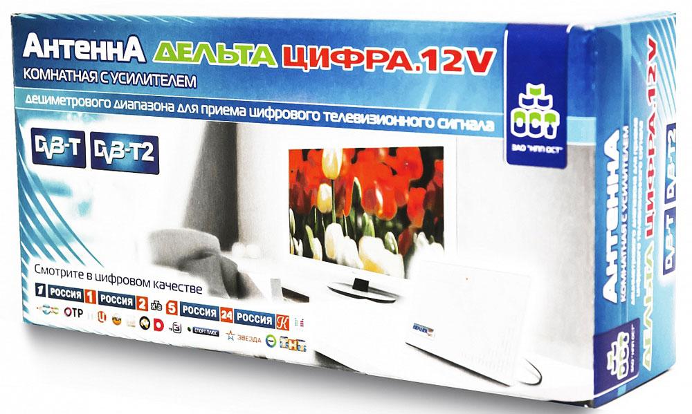 Дельта Цифра 12V комнатная ТВ-антенна (активная) Дельта