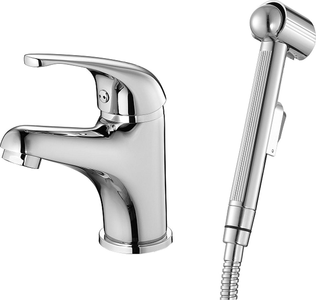 Смеситель для умывальника Milardo Davis, с гигиеническим душем смеситель для умывальника milardo magellan magsb00m01
