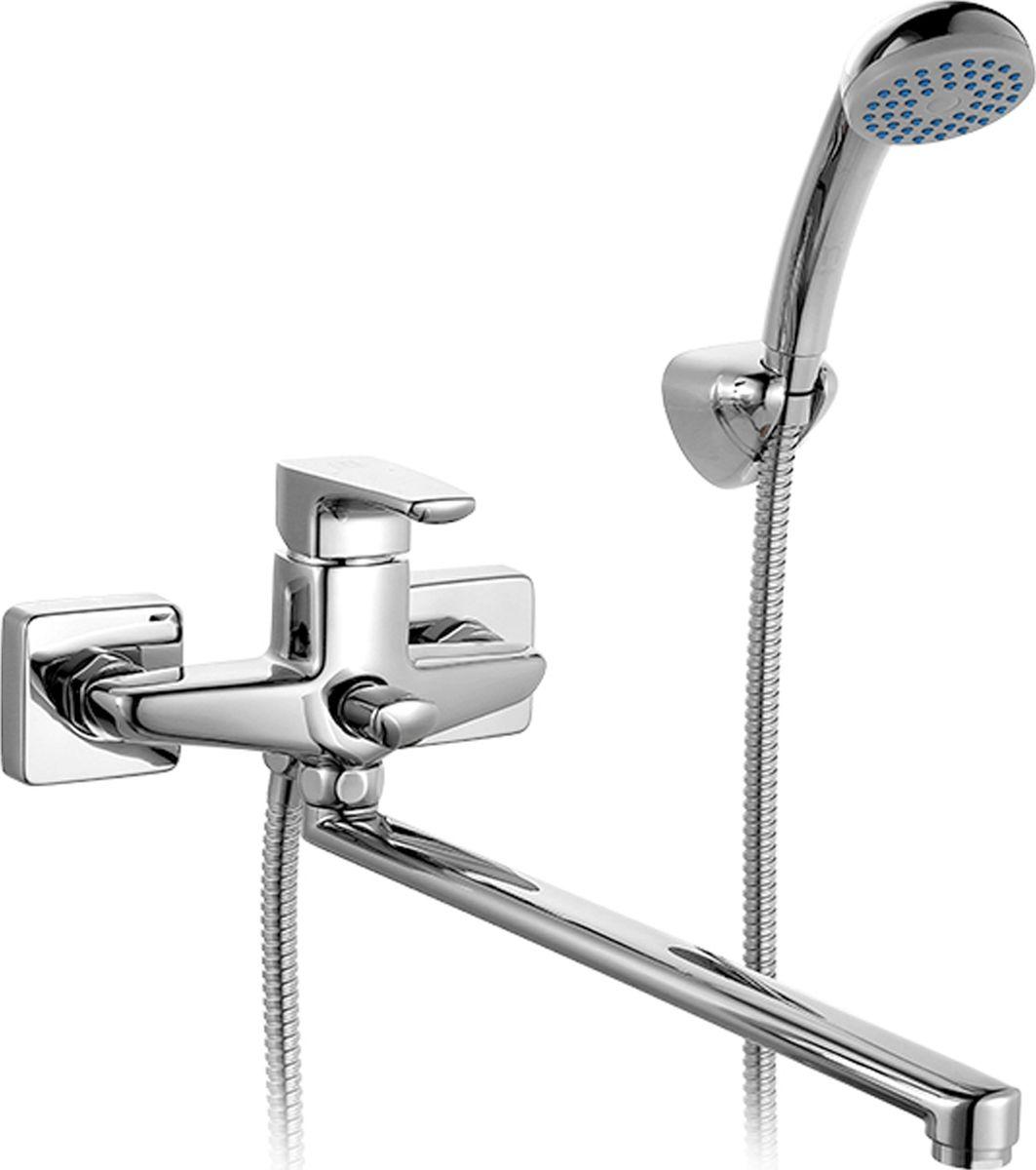 """Смеситель для ванны Milardo """"Labrador"""", с длинным изливом, цвет: хром"""