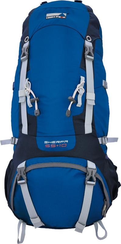 Рюкзак туристический High Peak Sherpa, цвет: синий, 65 + 10 л