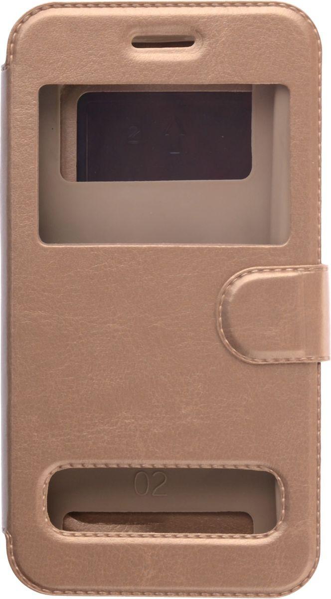 цена на Skinbox Silicone Slide универсальный чехол для смартфонов 5.0, Gold