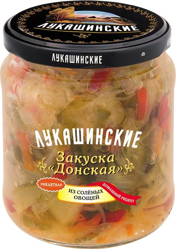 Лукашинские закуска донская из соленых овощей, 450 г цена