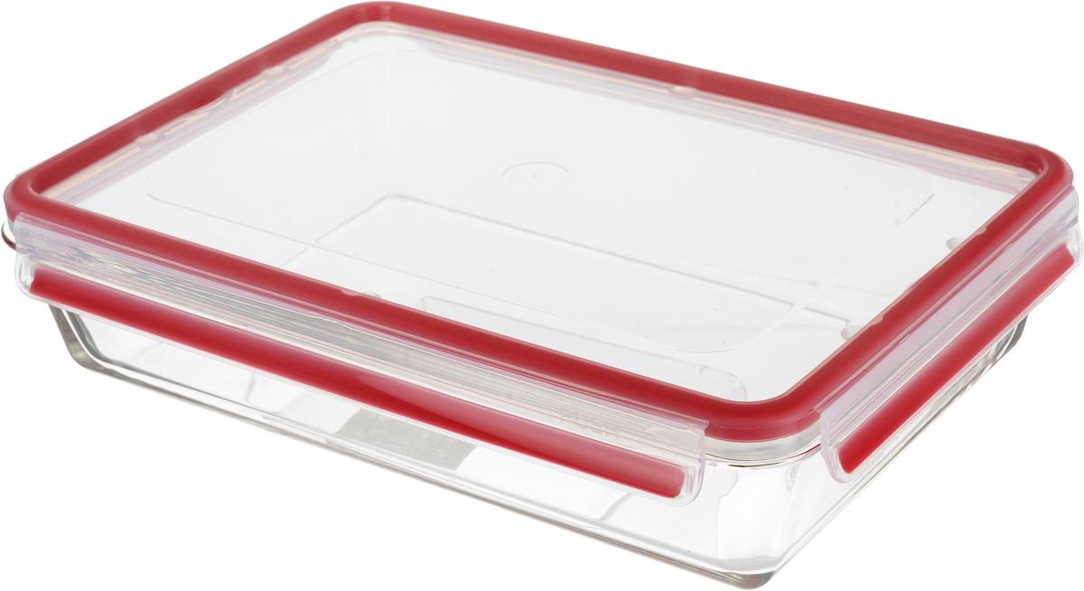 Контейнер Emsa Clip&Close, цвет: красный, прозрачный, 3 л контейнер пищевой emsa clip
